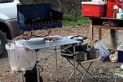 露營小工具 - 桌邊垃圾袋架 (延伸型垃圾桶架)