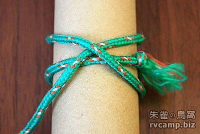 露營常用繩結 - 雙套結 (雙半結) + 瓶口結