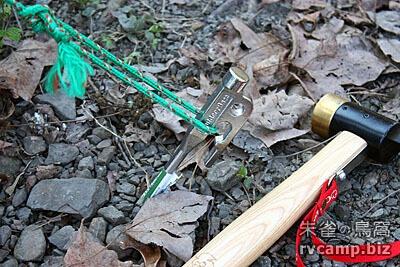 Outdoor Base 銅頭營鎚 + Outdoor Base 營釘 (30cm)