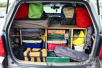 ESCAPE 休旅車後車廂載運裝備模式調整 (分層收納法)